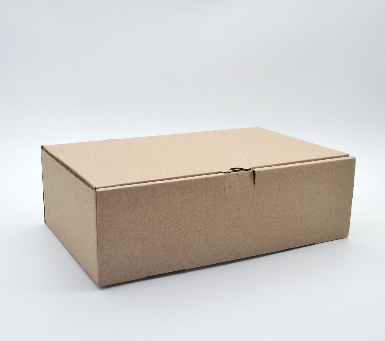 Box Corrugated Burger & Chips - 260x160x80 mm Kraft (ea)
