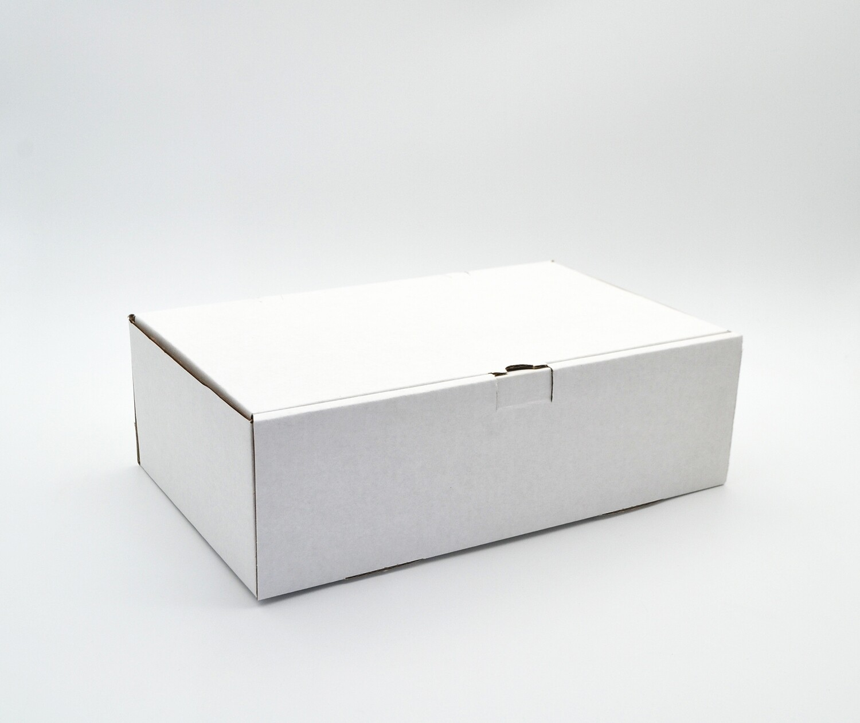 Box Corrugated Burger & Chips - 260x160x80 mm White (ea)