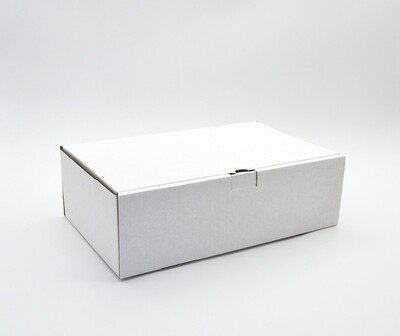 Box Corrugated Burger & Chips - 260x160x80 mm White (ea)