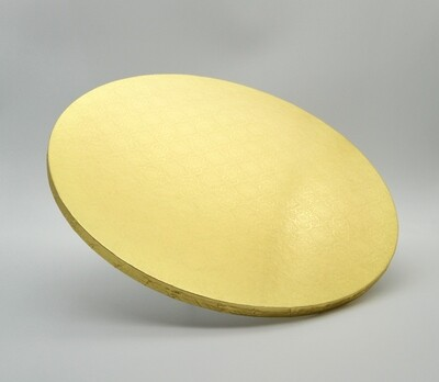 Cake Board Embossed Gold Round 13