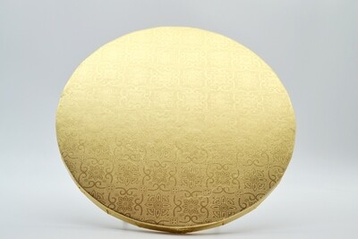 Cake Board Embossed Gold Round 7