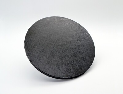 Cake Board Embossed Black Round 10