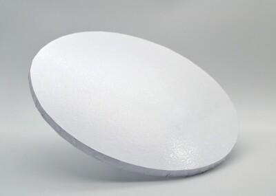 Cake Board Embossed White Round 12