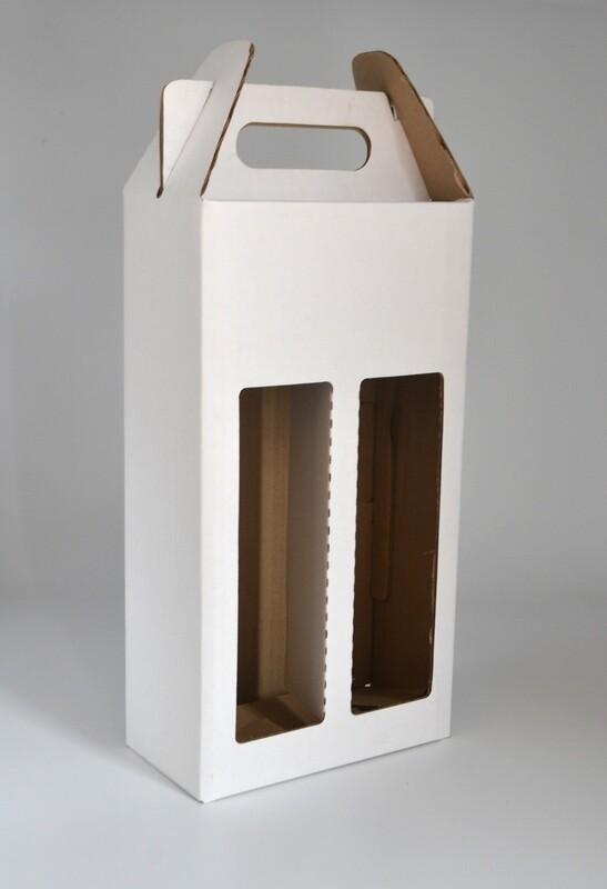 Box Corrugated Bottle Pack 2 - White (each)