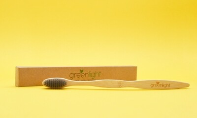 Bamboo Toothbrush - Charcoal 173mm (each)
