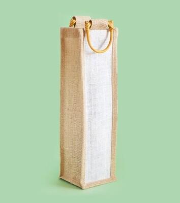 Hessian 1 Wine Bottle Bag - No Window 10 x 36 x 10cm (ea)