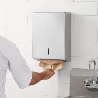 Stainless Steel Folded Paper Towel Dispenser (each)
