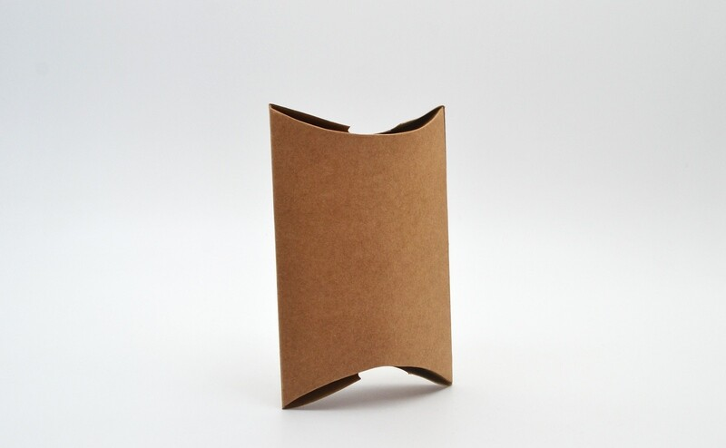 Pillow Pack Box Medium 100x94x30mm - Kraft (ea)
