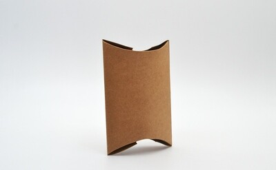 Pillow Pack Box Medium 100x94x30mm - Kraft (ea)