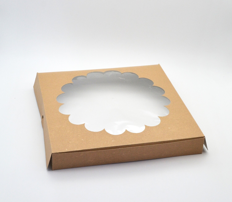Box Quiche Window Kraft 280 x 280 x 40mm (each)
