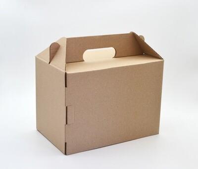 Box Corrugated Picnic Kraft 250x160x180mm Large (ea)