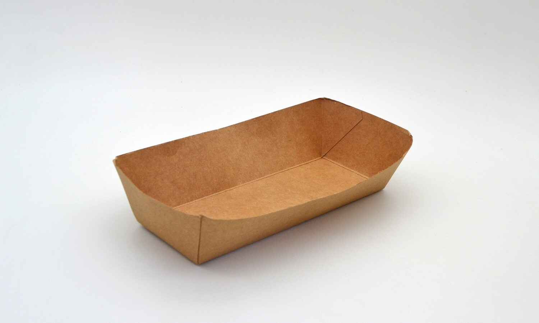 Eco Kraft Polylined Food Tray Hot Dog 850ml (Qty 50)