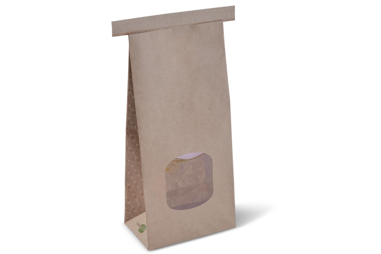 Paper Bag Brown Tin Tie Eco Medium (pack of 50)