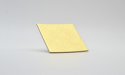 Cake Board Embossed Gold Square 3
