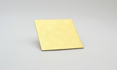 Cake Board Embossed Gold Square 4