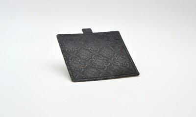 Mini cake board square black embossed 75 x 65 mm (ea)