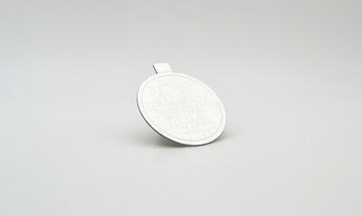 Mini cake board round silver embossed 75 x 75 mm (ea)