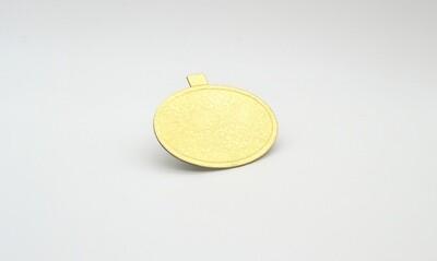 Mini cake board oval gold embossed 98 x 70 mm (ea)