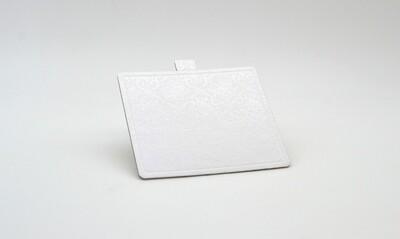 Mini cake board square white embossed 100 x 90 mm (ea)