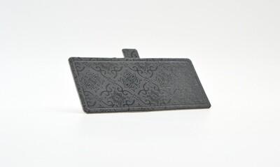 Mini cake board rectangular black embossed 120 x 55 mm (ea)