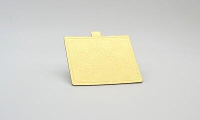Mini cake board square gold embossed 100 x 90 mm (ea)