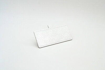 Mini cake board rectangular silver embossed 120 x 55 mm (ea)