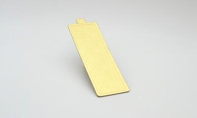 Mini cake board rectangular gold embossed 150 x 50 mm (ea)