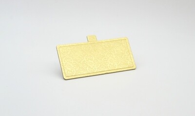 Mini cake board rectangular gold embossed 120 x 55 mm (ea)