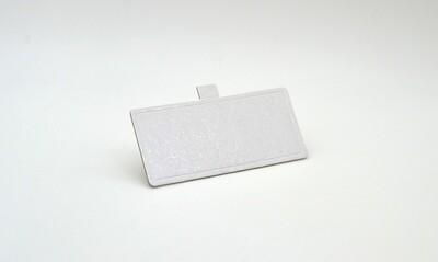 Mini cake board rectangular white embossed 120 x 55 mm (ea)