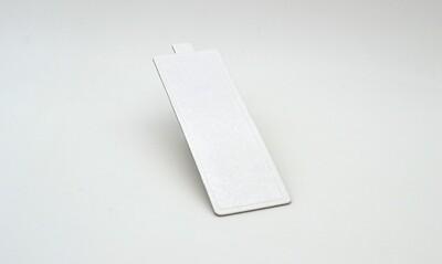 Mini cake board rectangular white embossed 150 x 50 mm (ea)