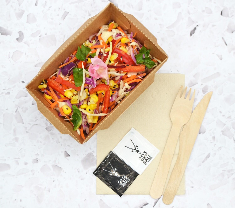 Clip lock Kraft Meal Box & PET Lid Combo (Qty 50) 1000ml
