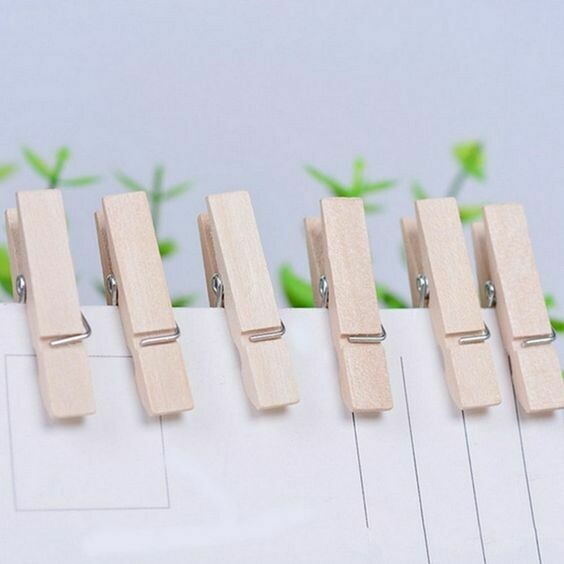 Wooden Pegs 3.5cm Natural (Qty 30)