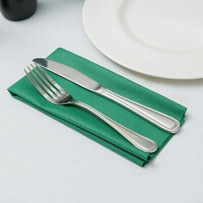 Napkins Airlaid Cocktail Slimcut Green 20 x 40 cm (Qty 50)