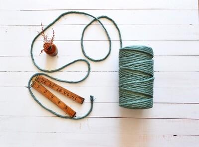 Macrame Luxury100% Cotton String 3Ply-Sage Green 4mm x 500g