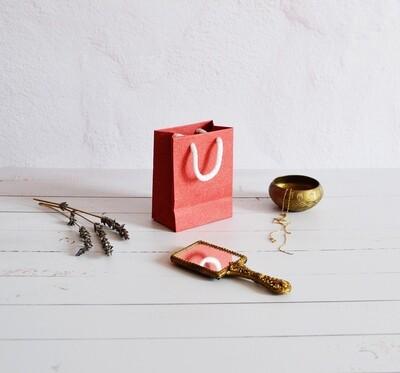Tiny Rope Handle Paper Bag - Burnt Sienna (each)