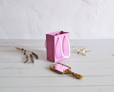 Tiny Rope Handle Paper Bag - Azalea (each)
