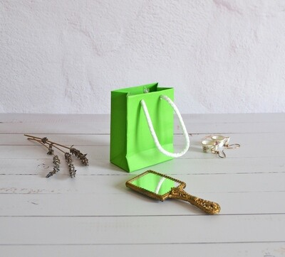 Tiny Rope Handle Paper Bag - Screamin'Green (each)