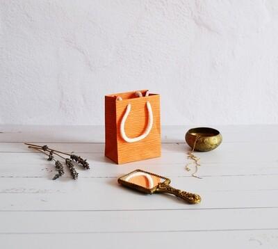Tiny Rope Handle Paper Bag - Tan Hide (each)