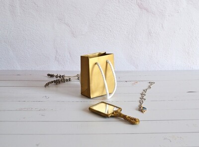 Tiny Rope Handle Paper Bag - Marzipan (each)