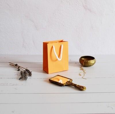 Tiny Rope Handle Paper Bag - Saffron Mango (each)