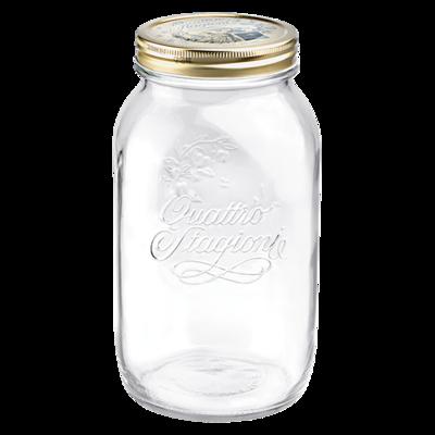 Bormioli Rocco Quattro Jar 1.5L (50oz) Aluminum Lid