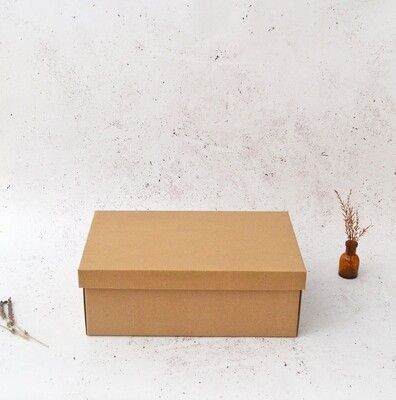Corrugated Base & Lid Shoe Box 205x340x120mm - Kraft (ea)