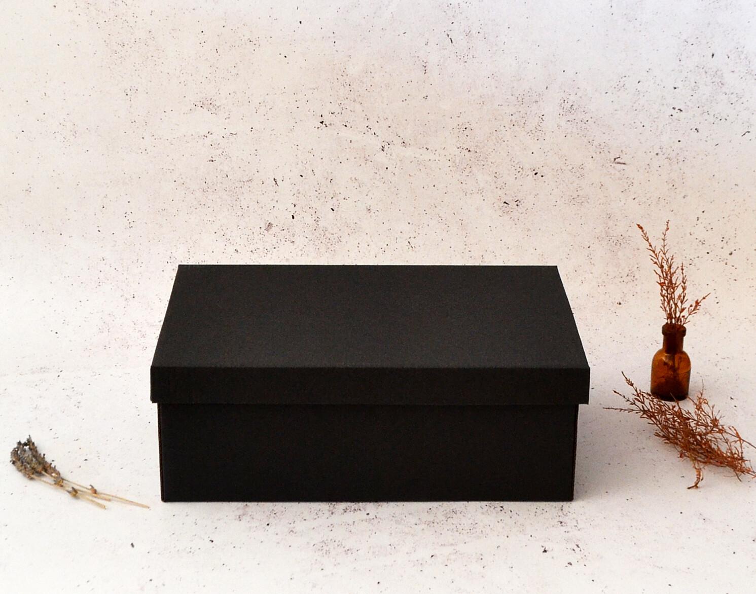 Corrugated Base & Lid Shoe Box 205x340x120mm - Black (ea)