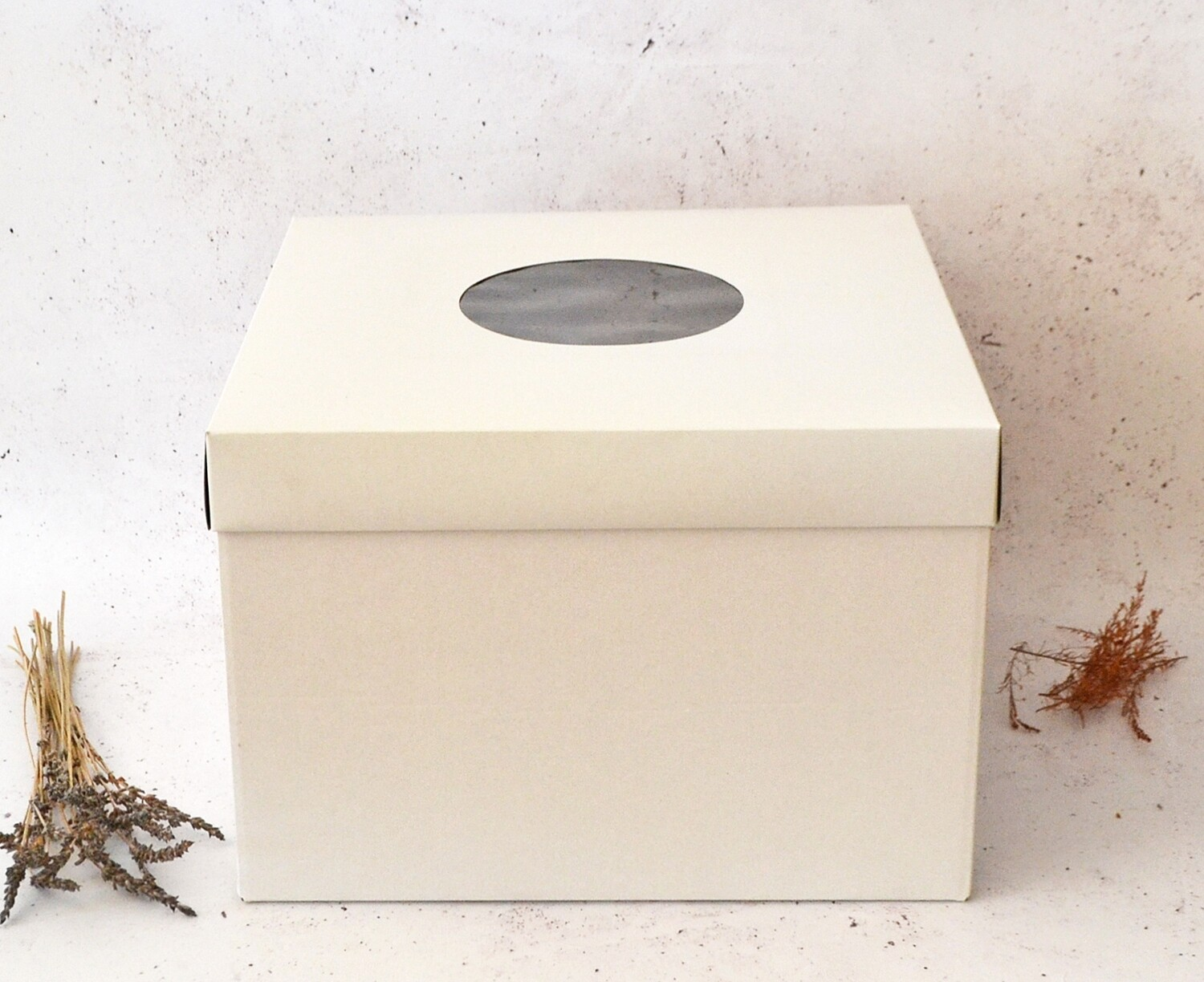 Cake Box Corrugated White 14