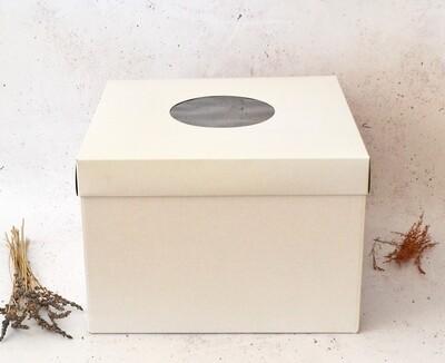 Cake Box Corrugated White 14