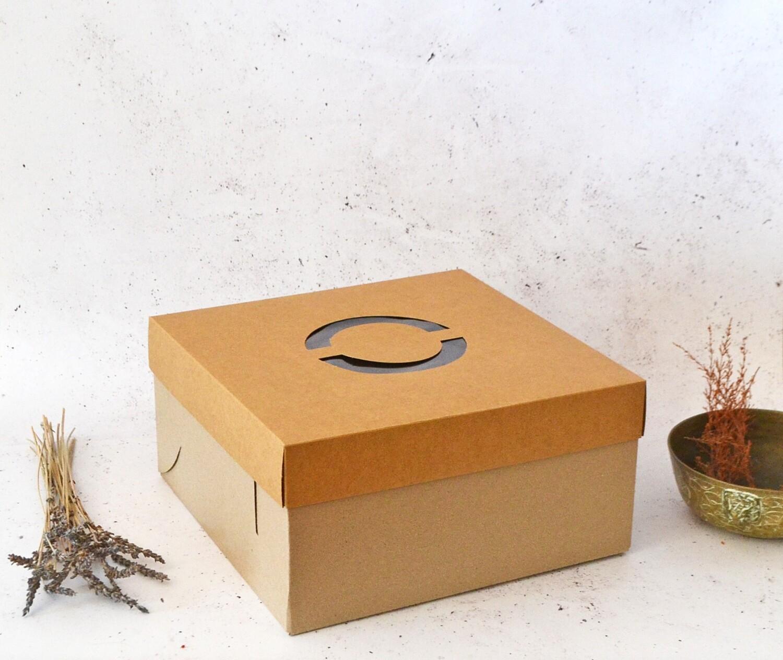 Cake Box Corrugated Kraft 12