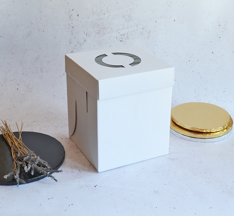 Cake Box Corrugated White 8