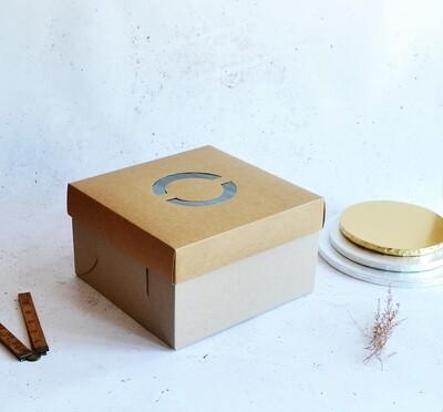 Cake Box Corrugated Kraft 10