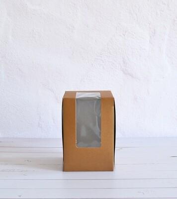 CupCake Single Window 100x100x150 Kraft - Tall (Qty 100)