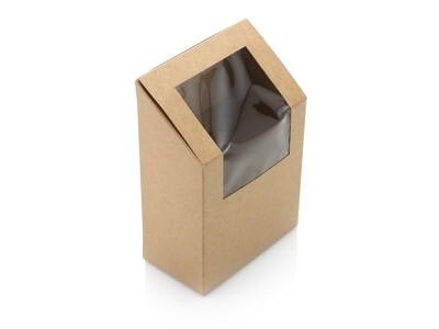 Kraft Half Wrap Box with PLA Window 13x5x9cm (ea)